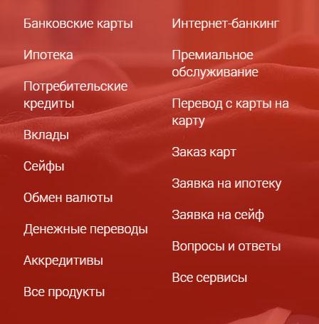 Услуги для физических лиц Фора банка
